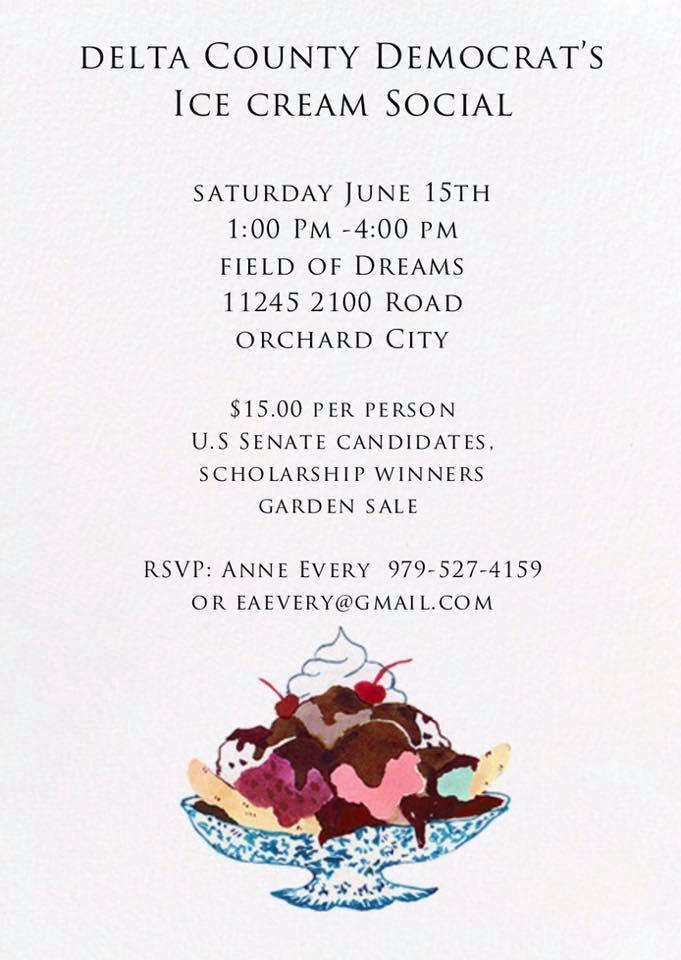 Delta Ice Cream Social | Saturday, June 15, 2019 | Field of Dreams