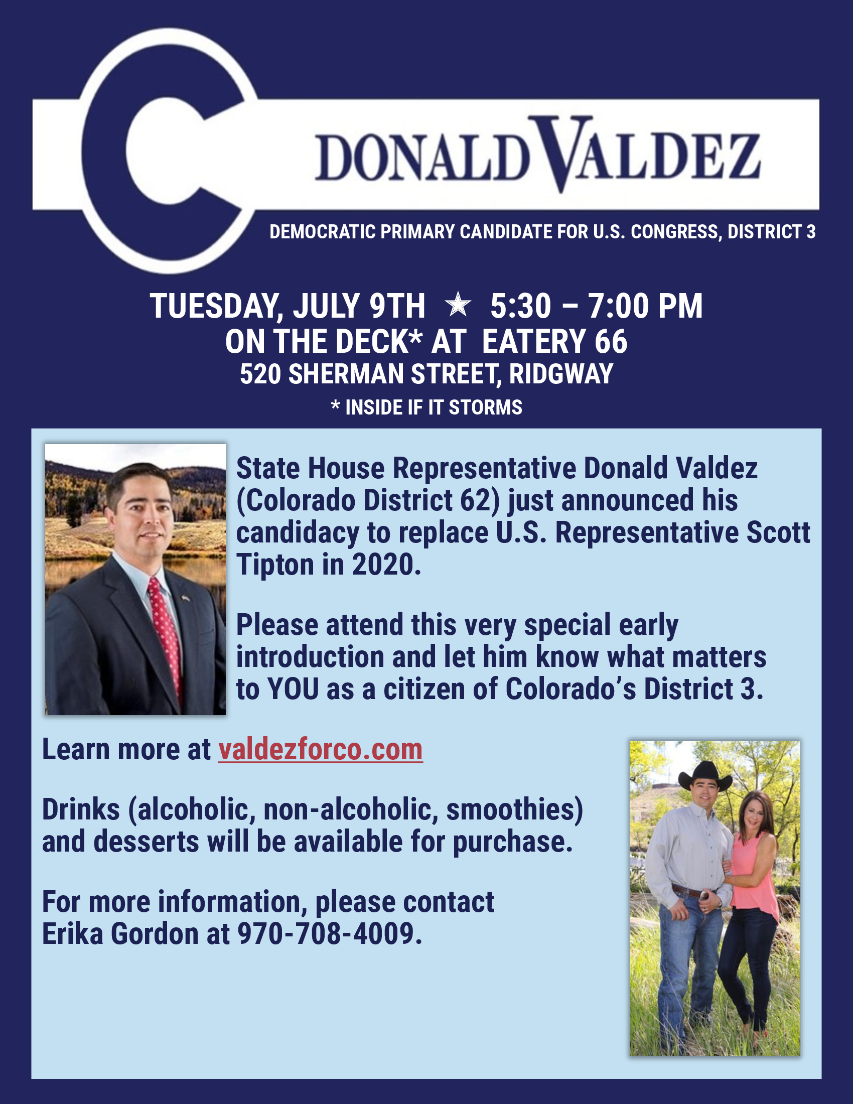 Ridgway Meet and Greet | Tuesday, July 9