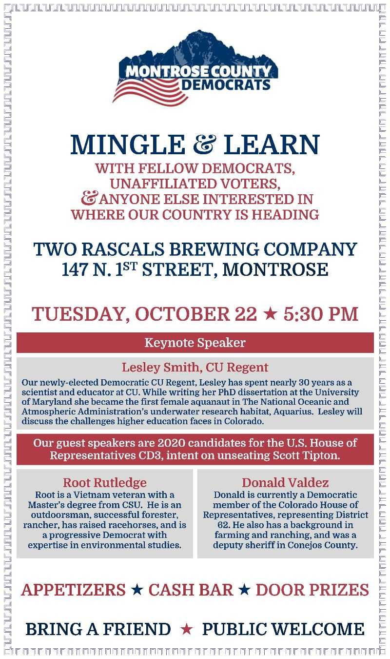 Montrose Meet & Greet | Tuesday, October 22, 2019 | Two Rascals Brewing Company