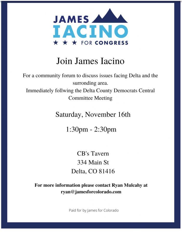 Delta County: James Iacino Forum