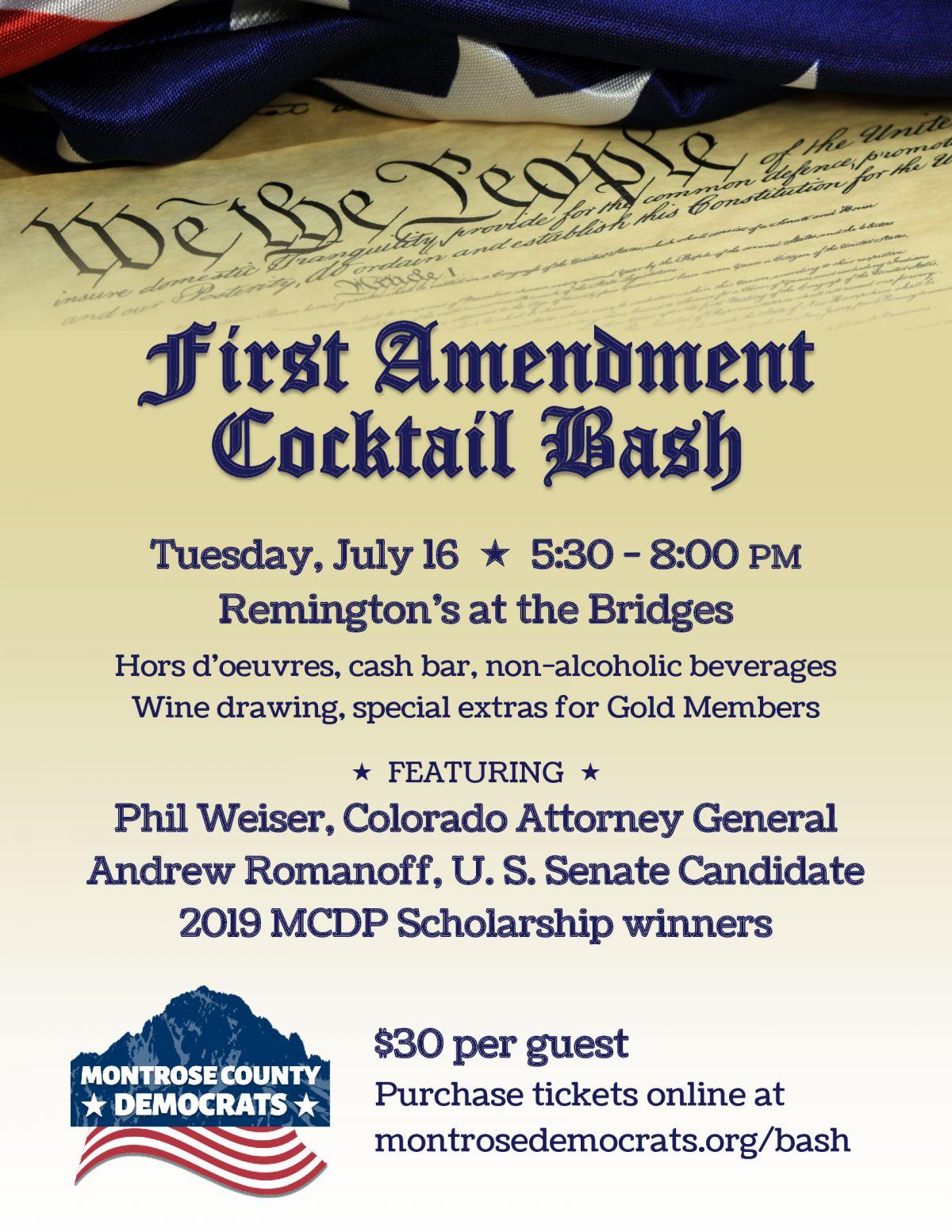 First Amendment Cocktail Bash