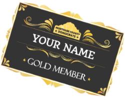 Gold Member name tag