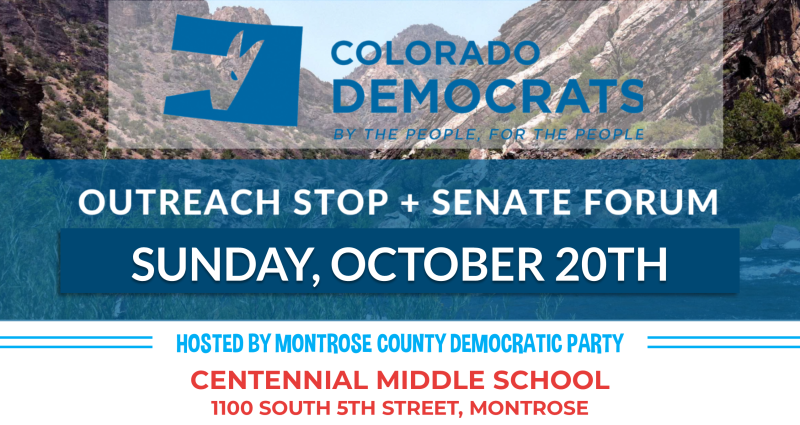 Western Slope Outreach Stop (poster)