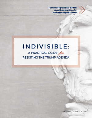 The Indivisible Guide: A Practical Guide For Resisting The Trump Agenda (click to view or download
